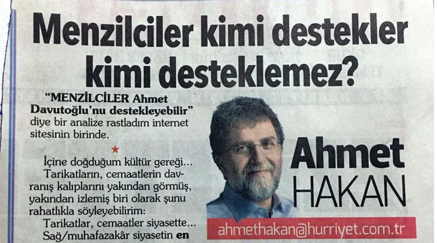 Ahmet Hakan'ın tarikat yanılgısı!