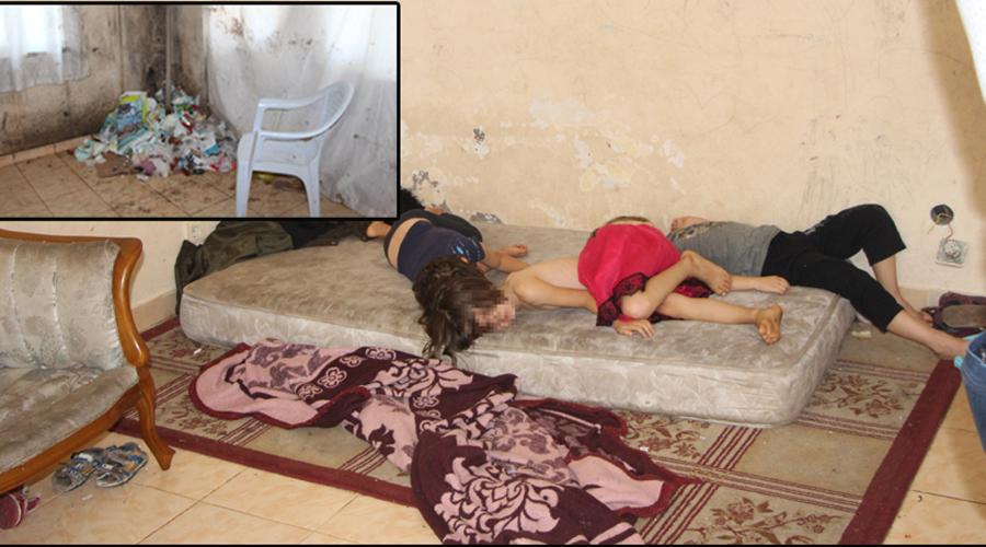 Manavgat'ta annesinin bakamadığı çocuklar korumaya alındı